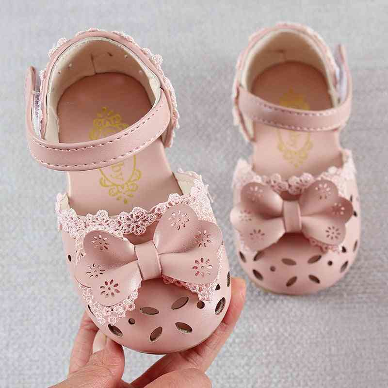 Summer Fashion Leathers Sweet Sandals For Girl, Baby Breathable Hoolow Out Bow Shoes