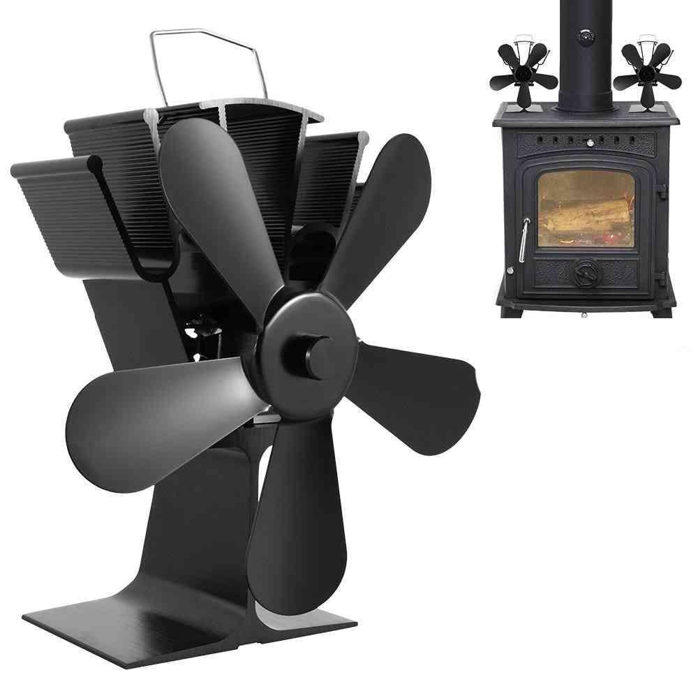 5 Blade Heat Powered, Fireplace Fan