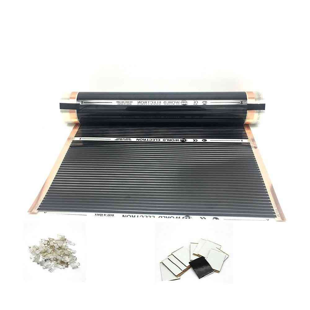 Ac220v Infrared Underfloor Heating Film Warm Mat With Clamps