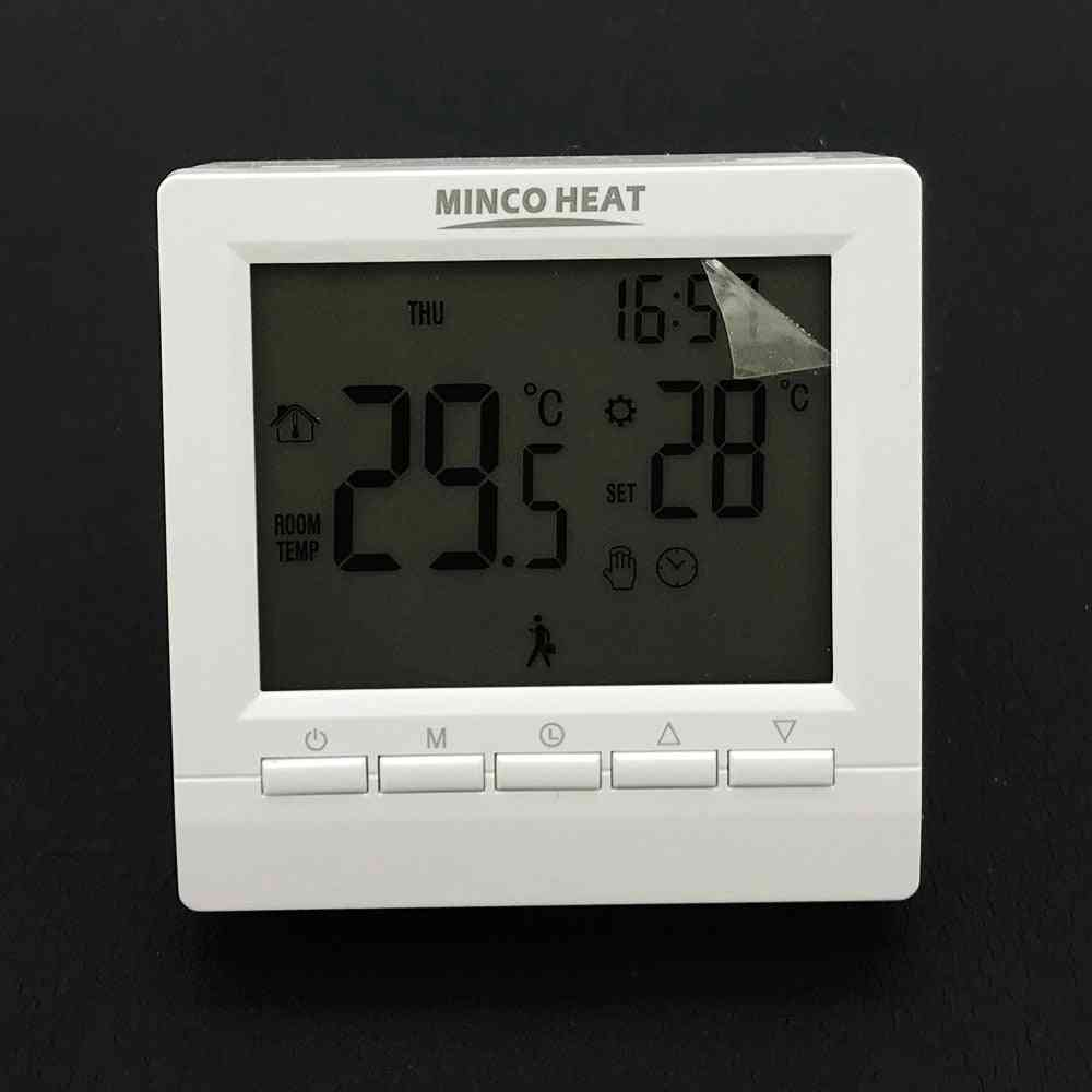 Programmable Gas Boiler Heating Temperature Regulator Hand Control Wireless Aa Battery Thermostat With Lock
