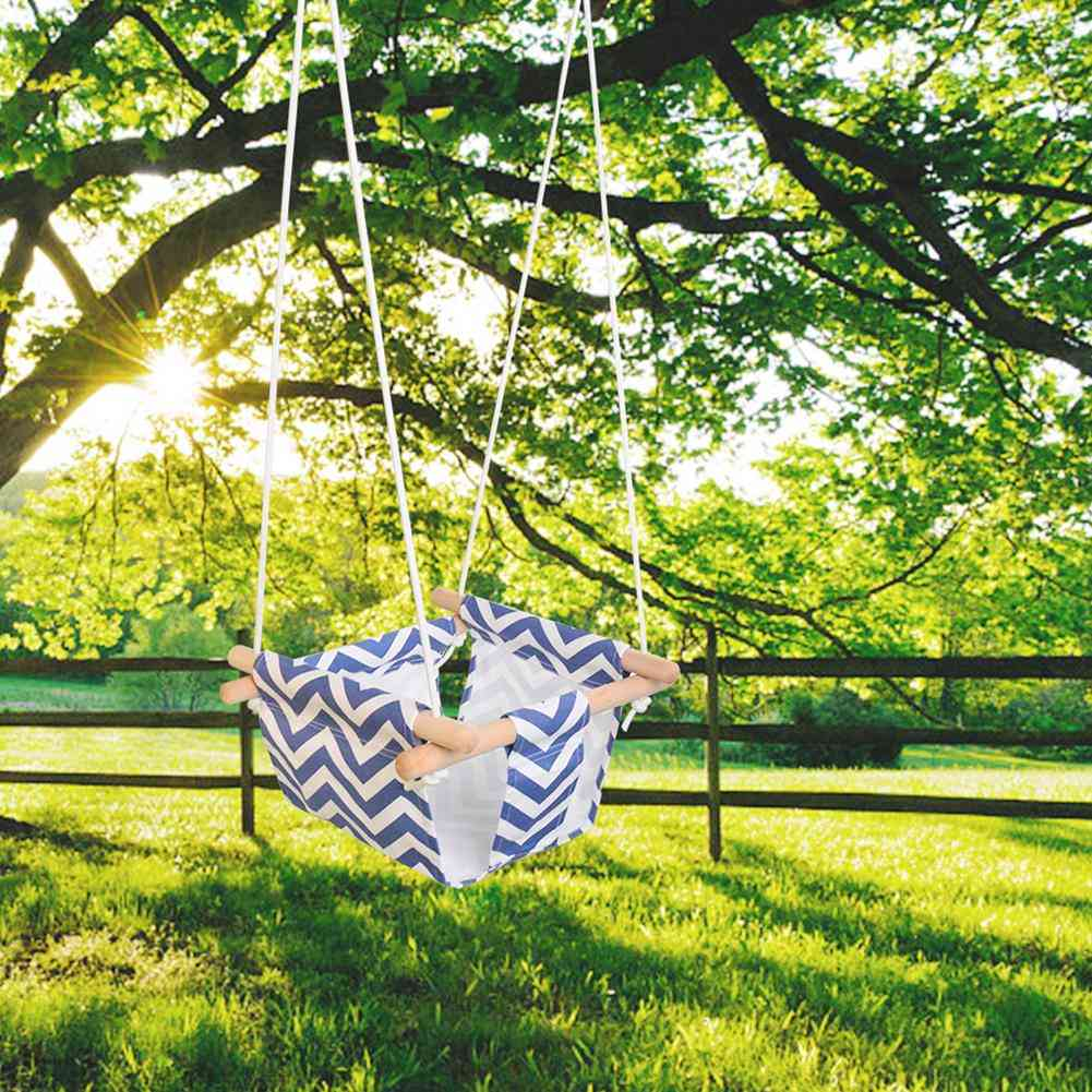 Baby Canvas Swing Hanging, Small Basket Rocking Chair With Cushion