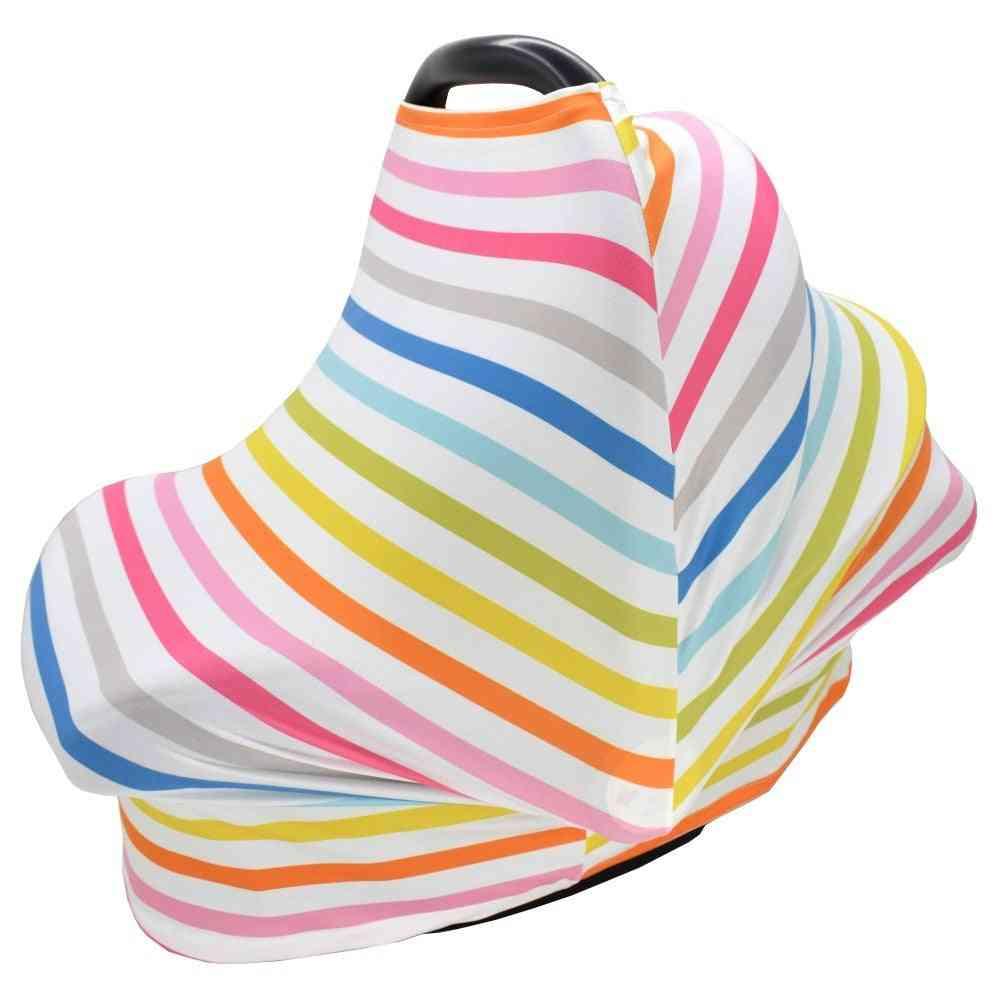Rainbow Breastfeeding, Stretchy Privacy Nursing -dustproof Car Cover