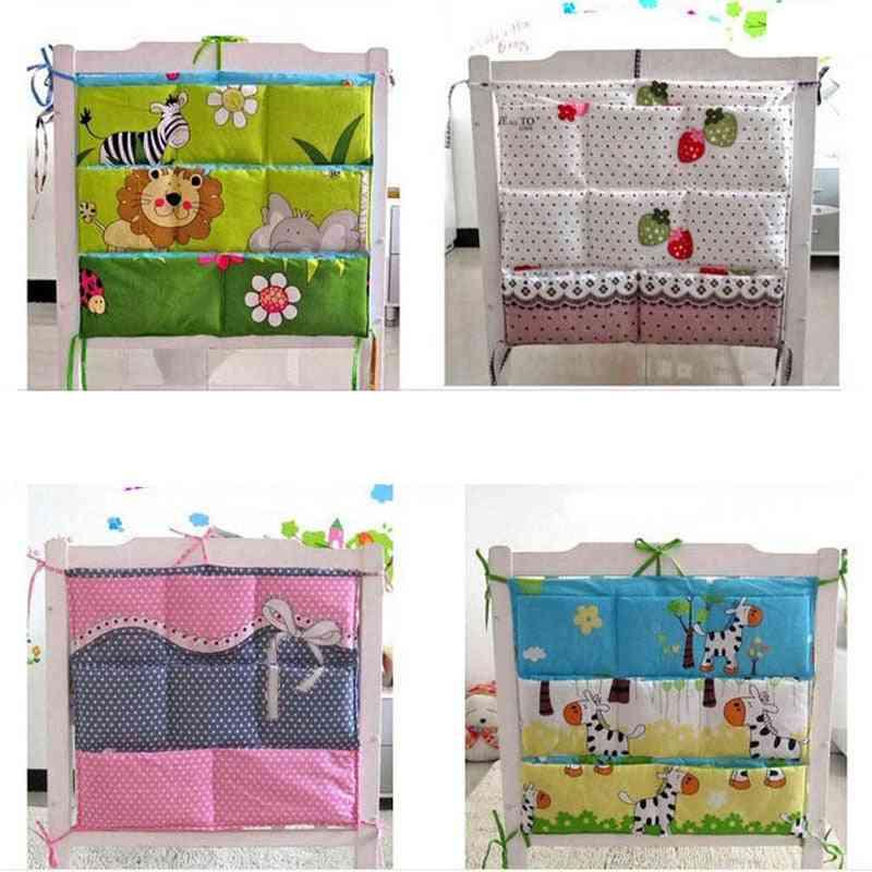 Nursery Hanging Storage Bag For Baby Bed Crib Organizer