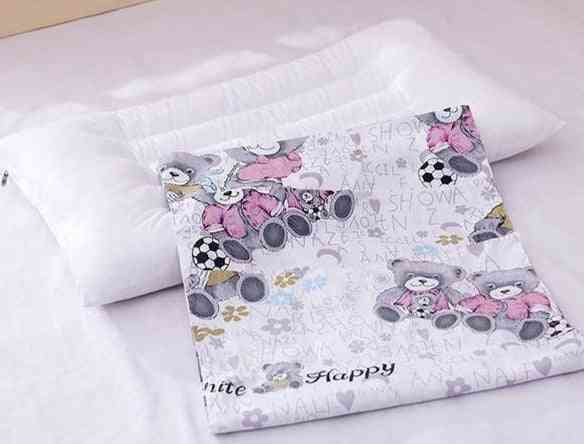 Soft Washable, Printed - Baby Sleeping Head Cushion Rectangle Toddler Pillow