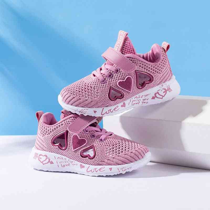 Air Mesh, Hook And Loop Type-casual Sports Shoes For