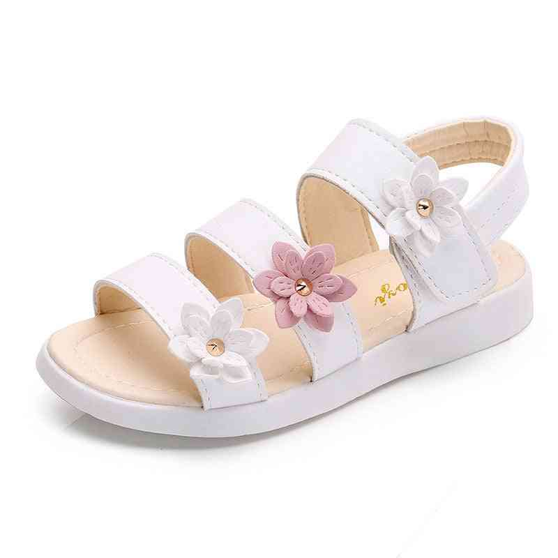 Girls Sandals, Gladiator Flowers- Sweet Soft's Beach Shoes