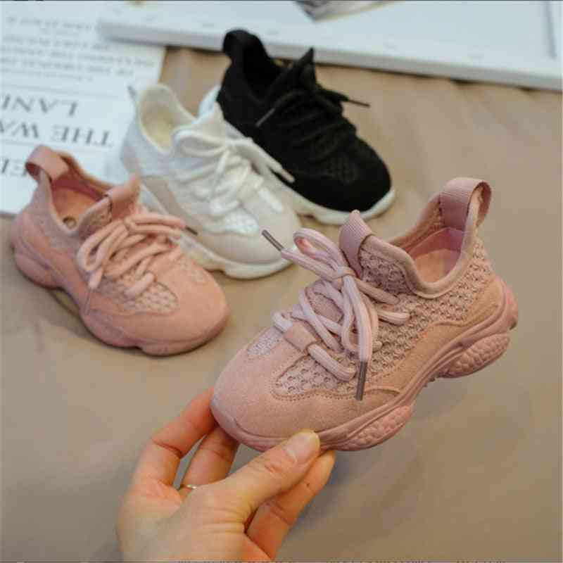 Mesh Breathable, Casual  Lace Up Shoes For Kids