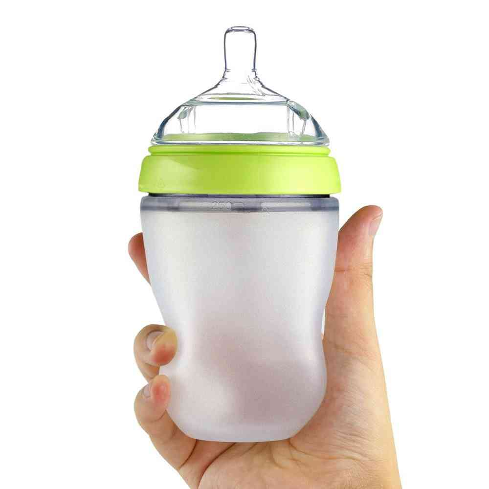 Baby Bottle, Breastmilk Wide Neck, Soft Silicone Feeding Container