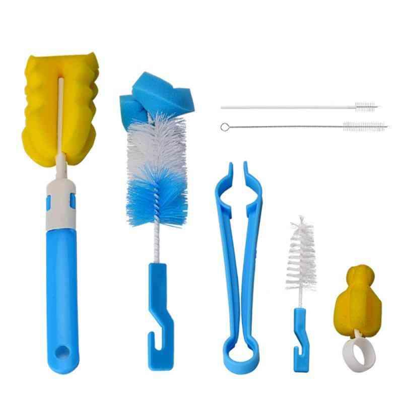 Sponge Bottle Cleaning Brush Set