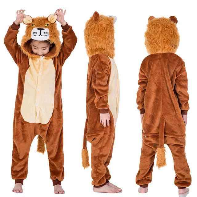 Kids Cosplay Sleepwear-cartoon Pattern Hooded Suit
