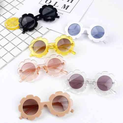 Retro Round Uv400 Sunglasses For Kids