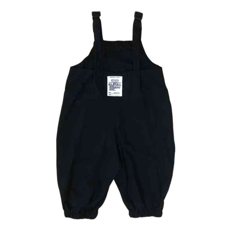 Oversized Loose With Big Pocket Suspender Trousers