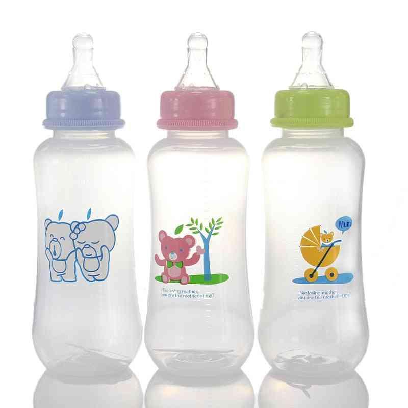Cartoon Animal Printed, Anti-flatulence Cup-feeding Bottle