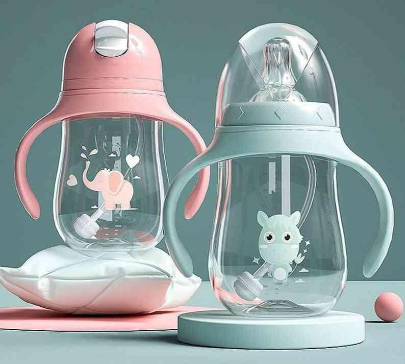 Baby Feeding Bottle, Wide-caliber Multifunctional Drinking Milk & Water