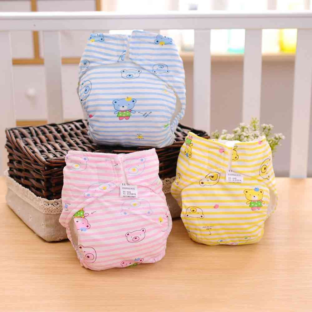 Waterproof Breathable 2-layer Cotton Cloth Diaper Cover (0-6months)