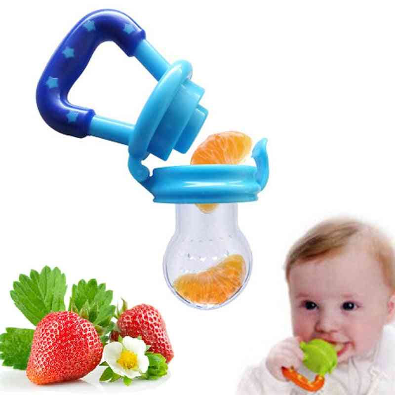 Baby Bottle Soother For Fruit, Food Nipple & Bits Feeder