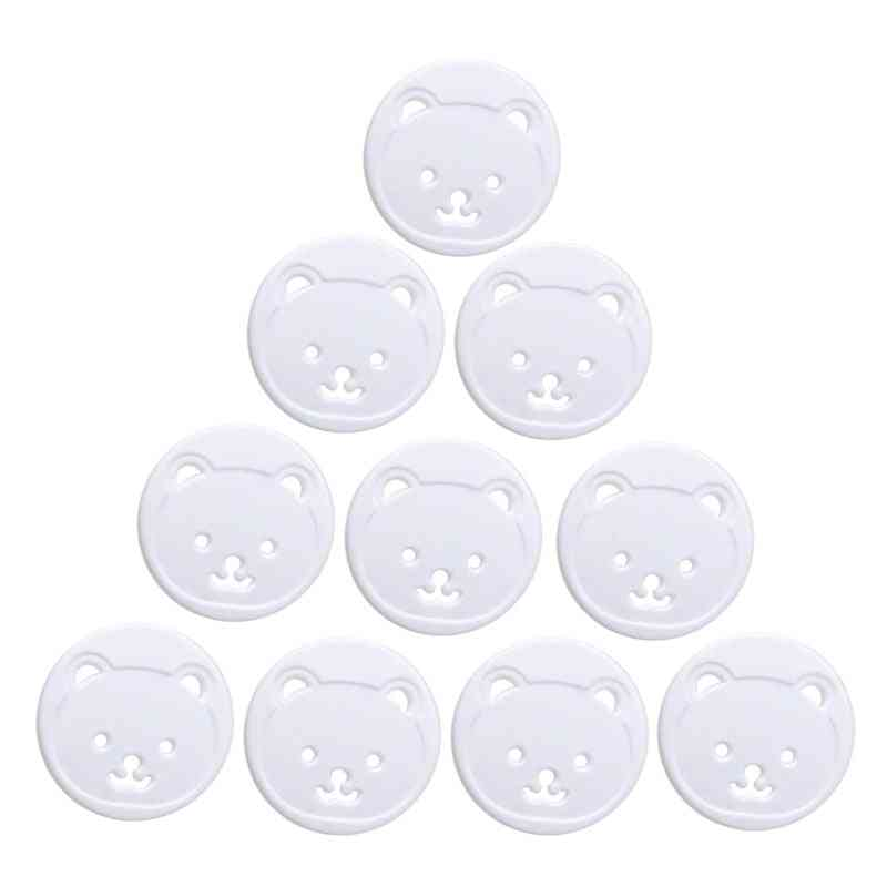 10pcs Bear Eu Power Socket- Electrical Outlet Child Safety Guard