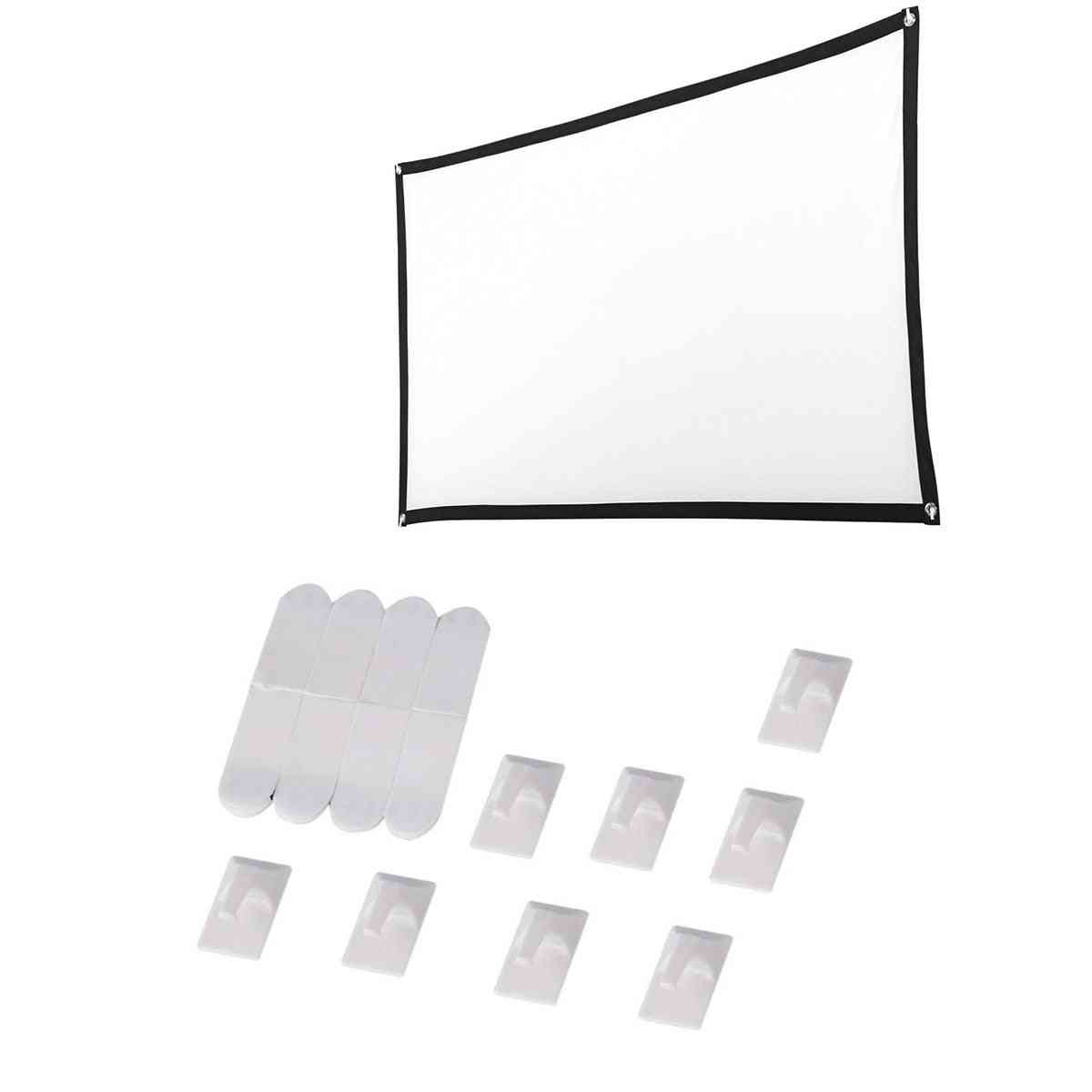Foldable Soft 16: 9 Projection Screen Cloth, 4k 3d Hd Projector Movie Outdoor