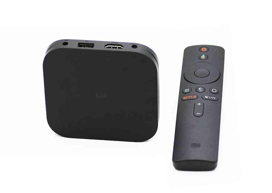 Original Global Mi Tv Box, 4k Hdr Android  8.1 Ultra Hd Wifi Cast Netflix Set, 4 Media Player
