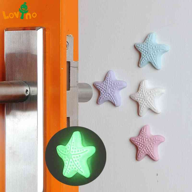 Star Shaped, Night Glow Rubber Door Stoppers-prevent Finger Injuries