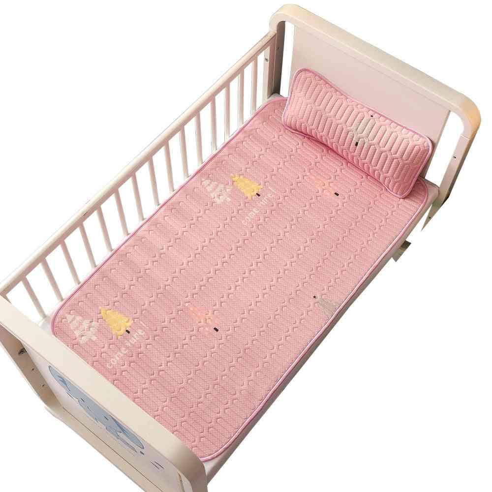 Insular Cartooon Summer Anti-skid Baby Ice Silk Mat, Include Pillow Set