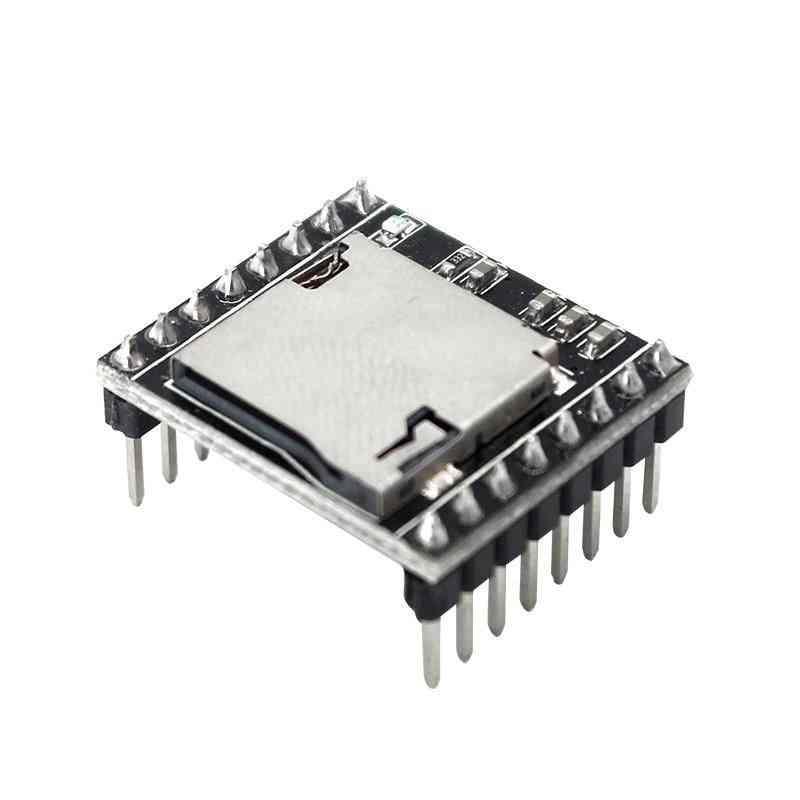 Mini Mp3 Player Module Voice Decode Board, U-disk Io/serial Port With Tf Card