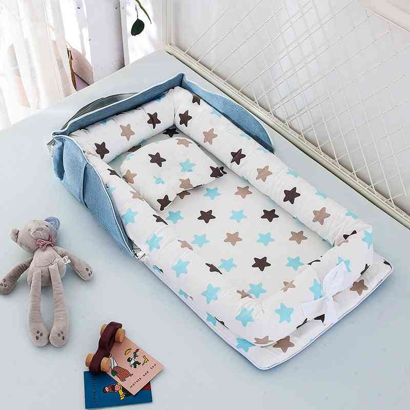 Portable Baby Nest Bed With Pillow