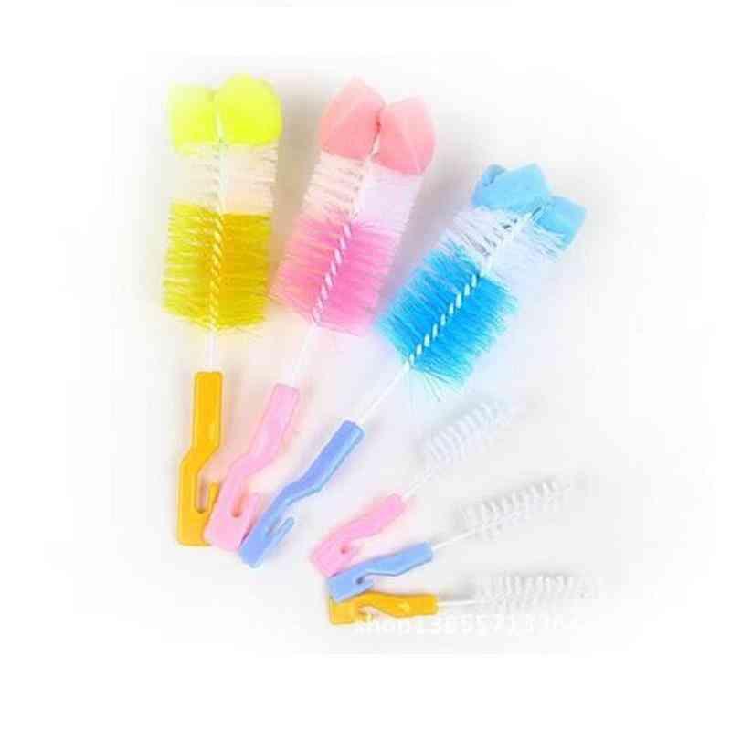 360 Degree Sponge Cleaner + Pacifier Brush