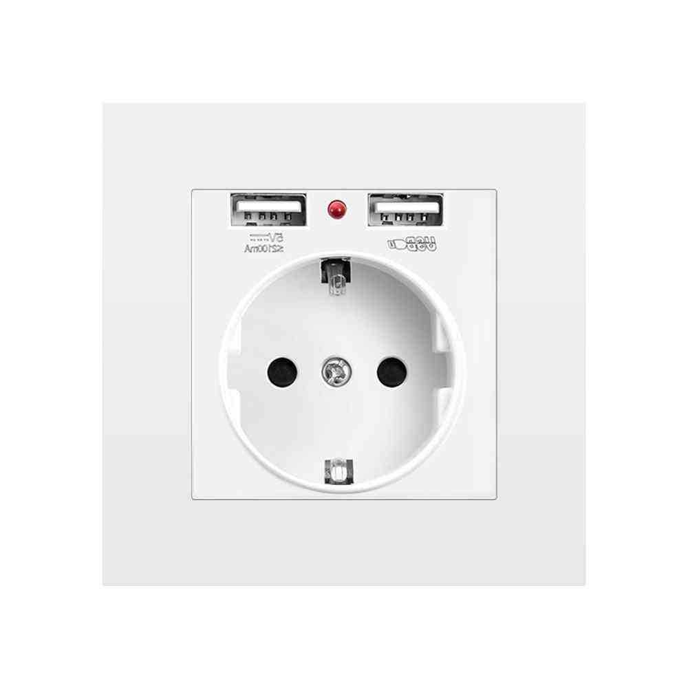 Wall Embedded Eu Power Socket With Usb Ports