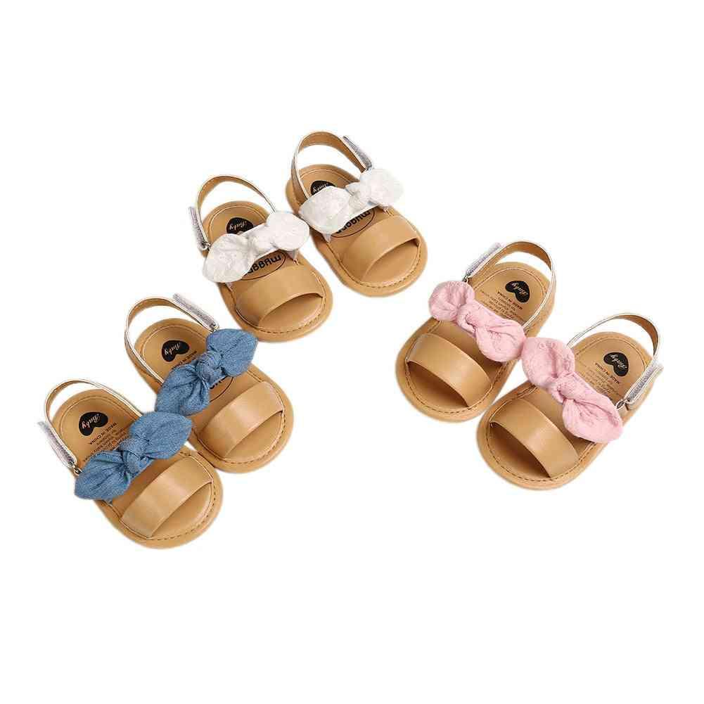 Summer Casual, Cute Bow Knot Design Sandals For Newborn Babies