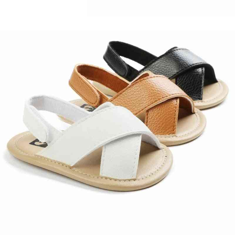 Newborn Baby Casual Soft Sole, Leather Hollow Sandals Shoes