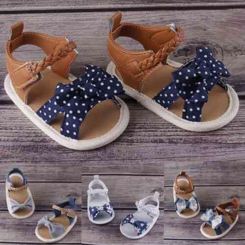 Baby Girl Soft Sole Shoes, Bowknot Sandals