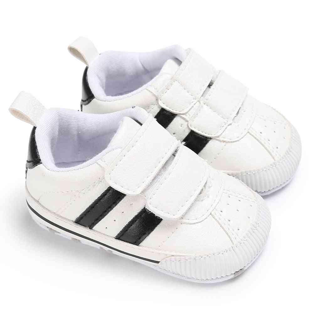 Soft Sole, Hook Loop Prewalker Sneakers-non-slip Crib Shoes