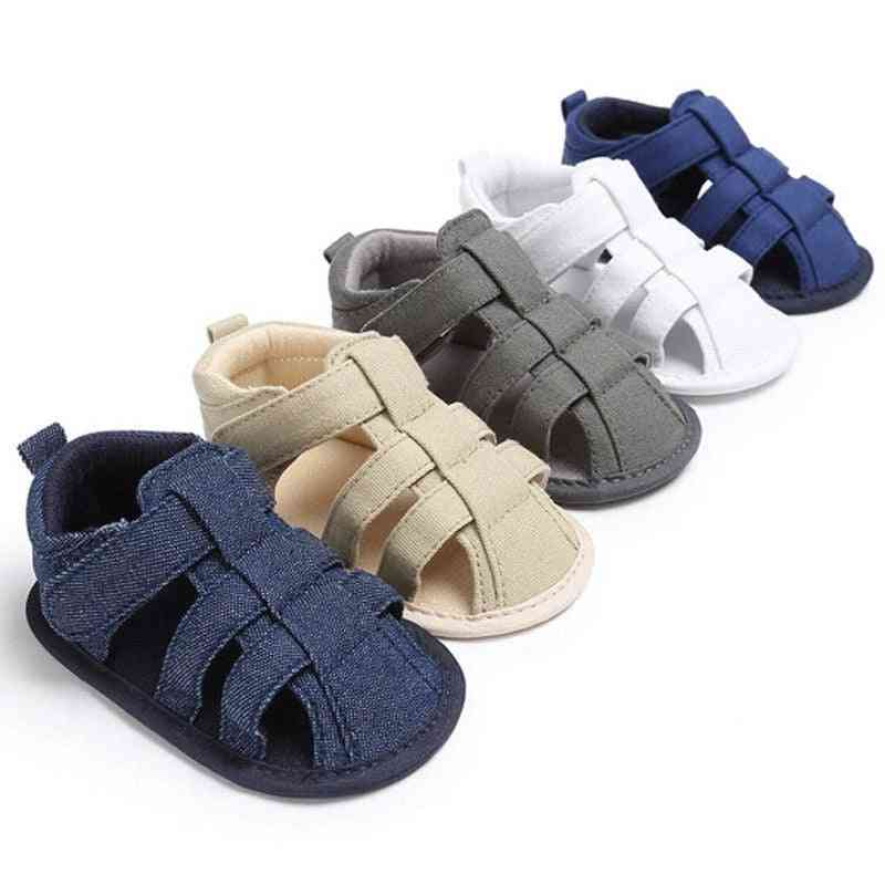 Canvas Soft Sole Crib Sneakers- Flat Summer Baby Shoes
