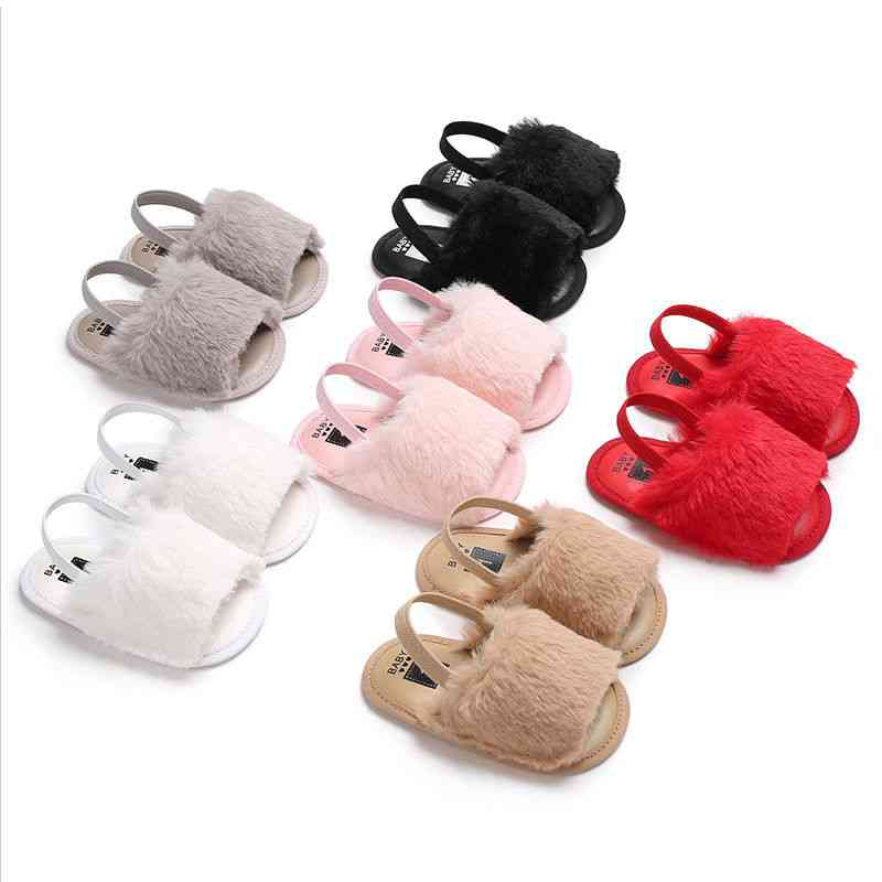 Soft Sole Crib Shoes-summer Sandals For Newborn Baby Girl