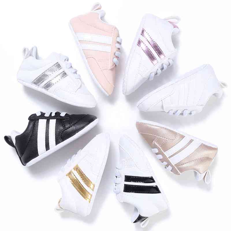 Casual Striped, Cross-tied Lace Up Shoes For Kids