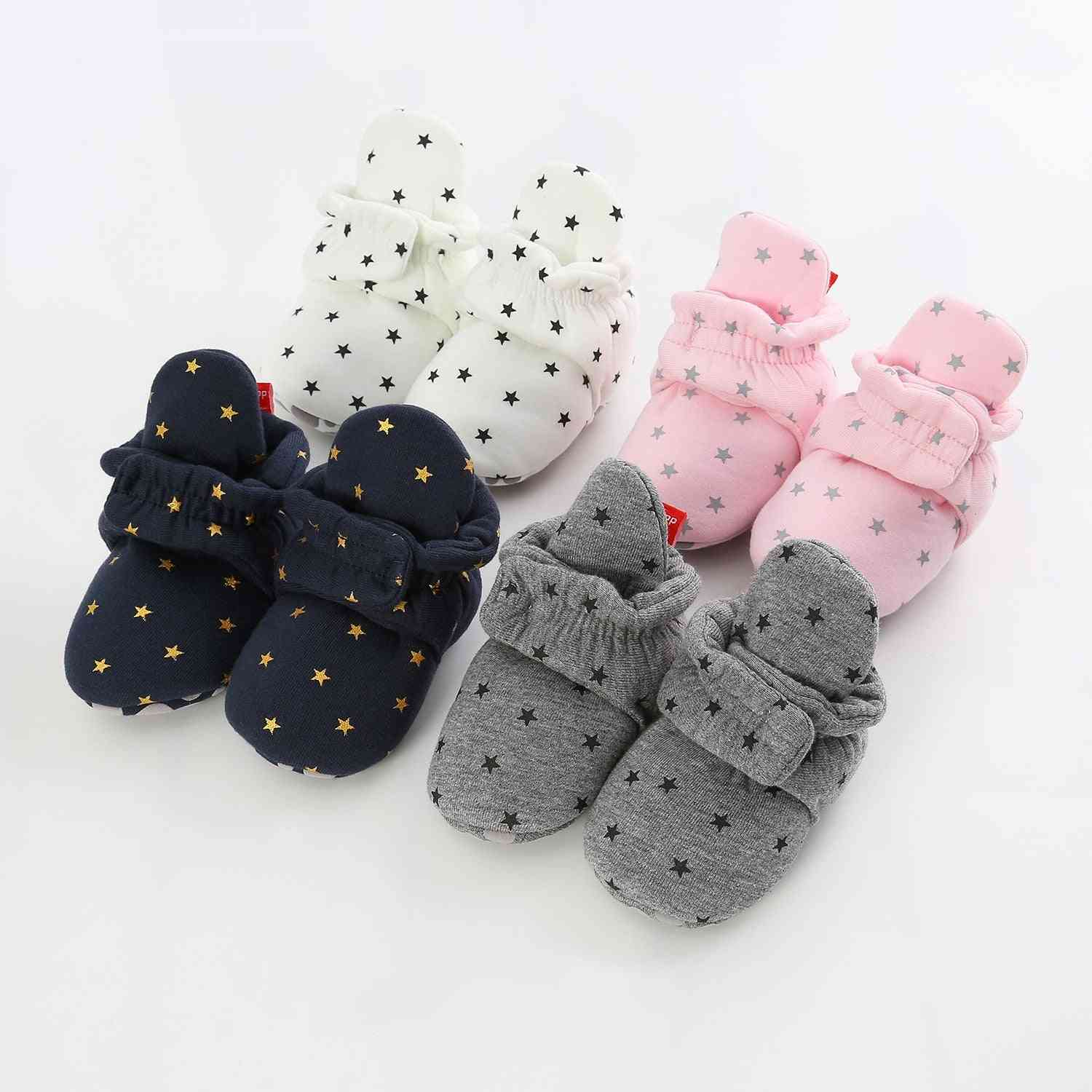 Newborn Baby Socks Shoes, Boy And Girl Star Toddler First Walkers Booties