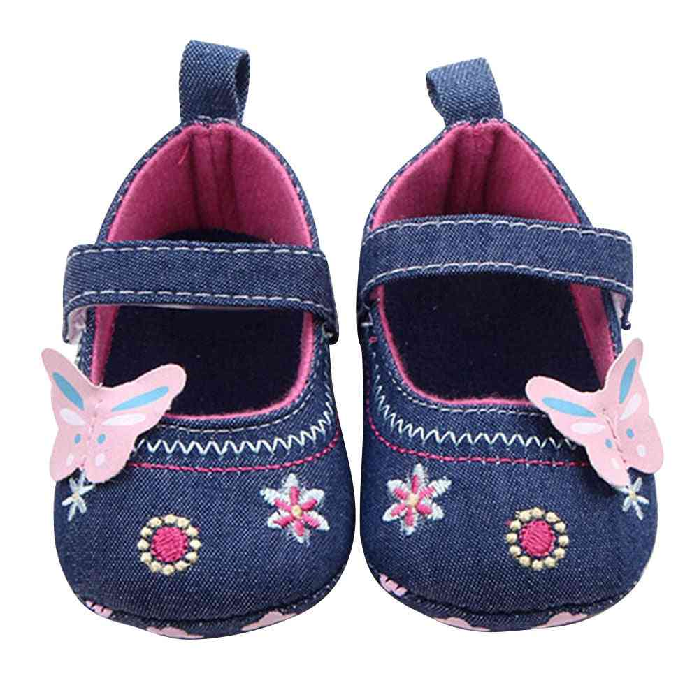 Baby Girl Lovely Butterfly, Soft Material Sole Toddler Shoes