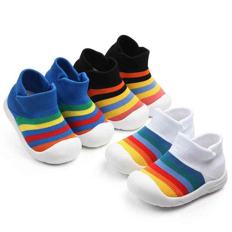 Rainbow Pattern, Anti-slip Breathable Casual Sports Baby Shoes