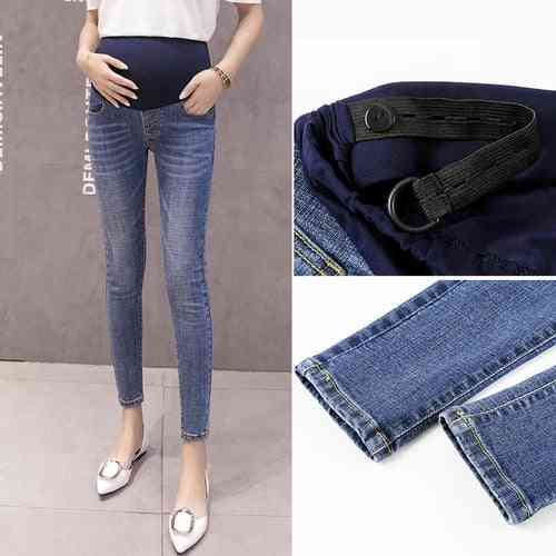 Maternity Clothes- Elastic Soft Jeans, And Skinny Pregnancy Pants