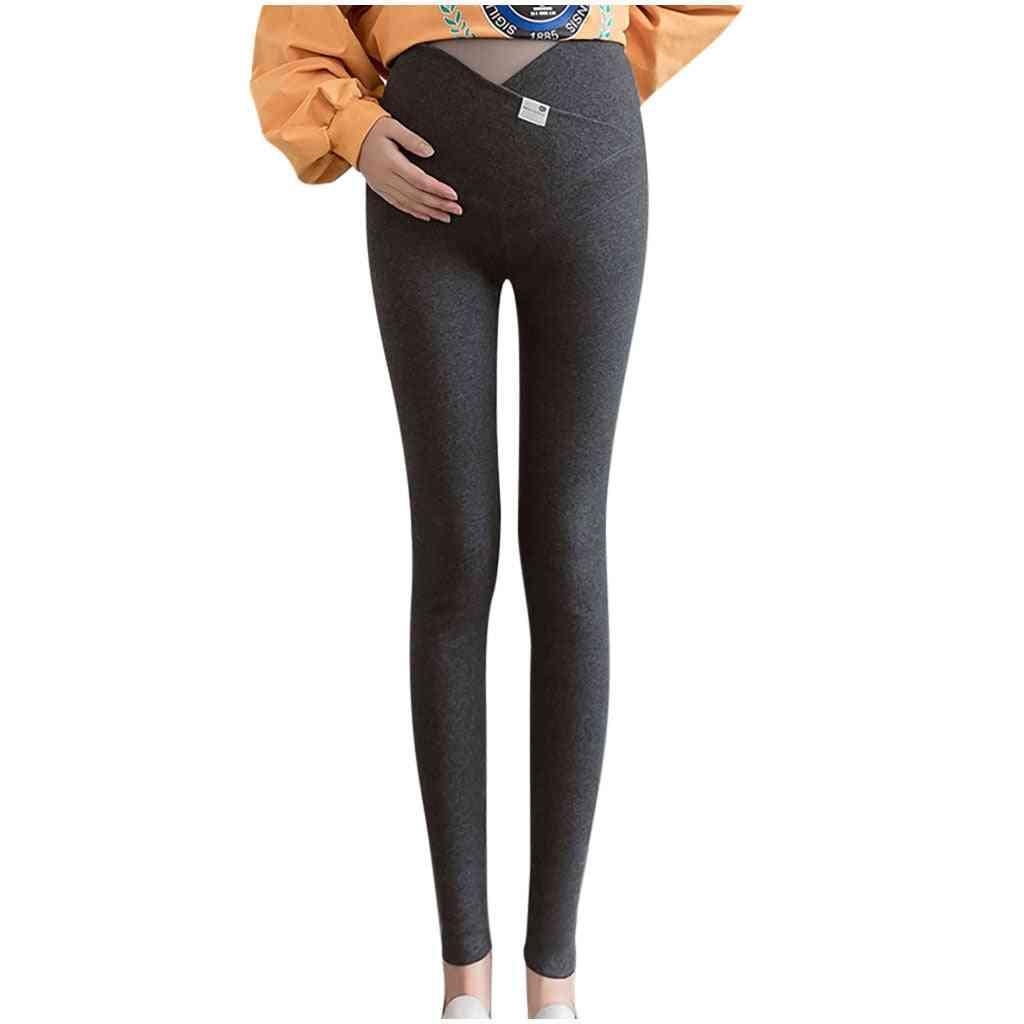 Pregnant Gravida High Waist Leggings, Stretchy Pencil Pants
