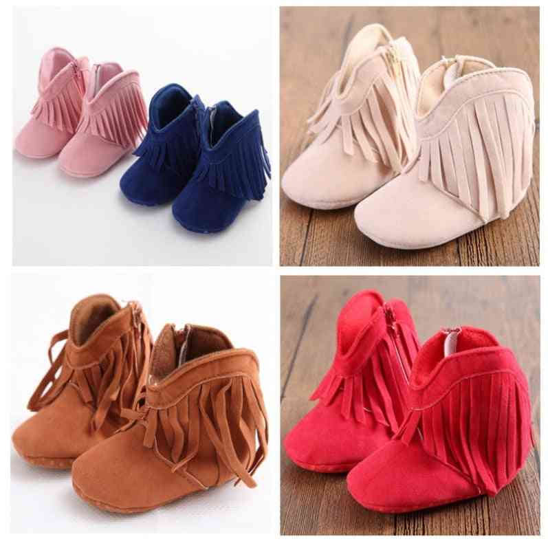 Baby Infant Shoes, Boy And Moccasins- First Walkers For Newborn