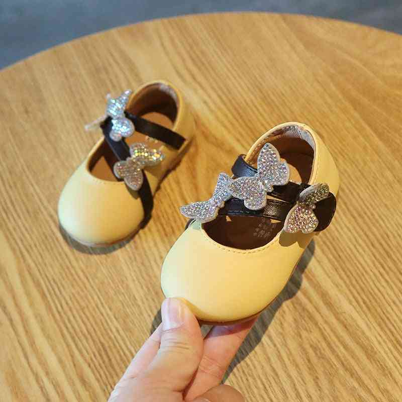 Princess Shoes, Butterfly Sequins, Baby Soft Bottom Leather Sandals