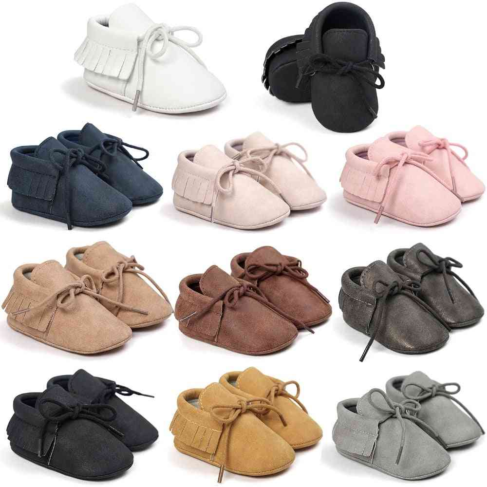 Pu Leather Baby Mocassins Shoes, For And, First Walkers