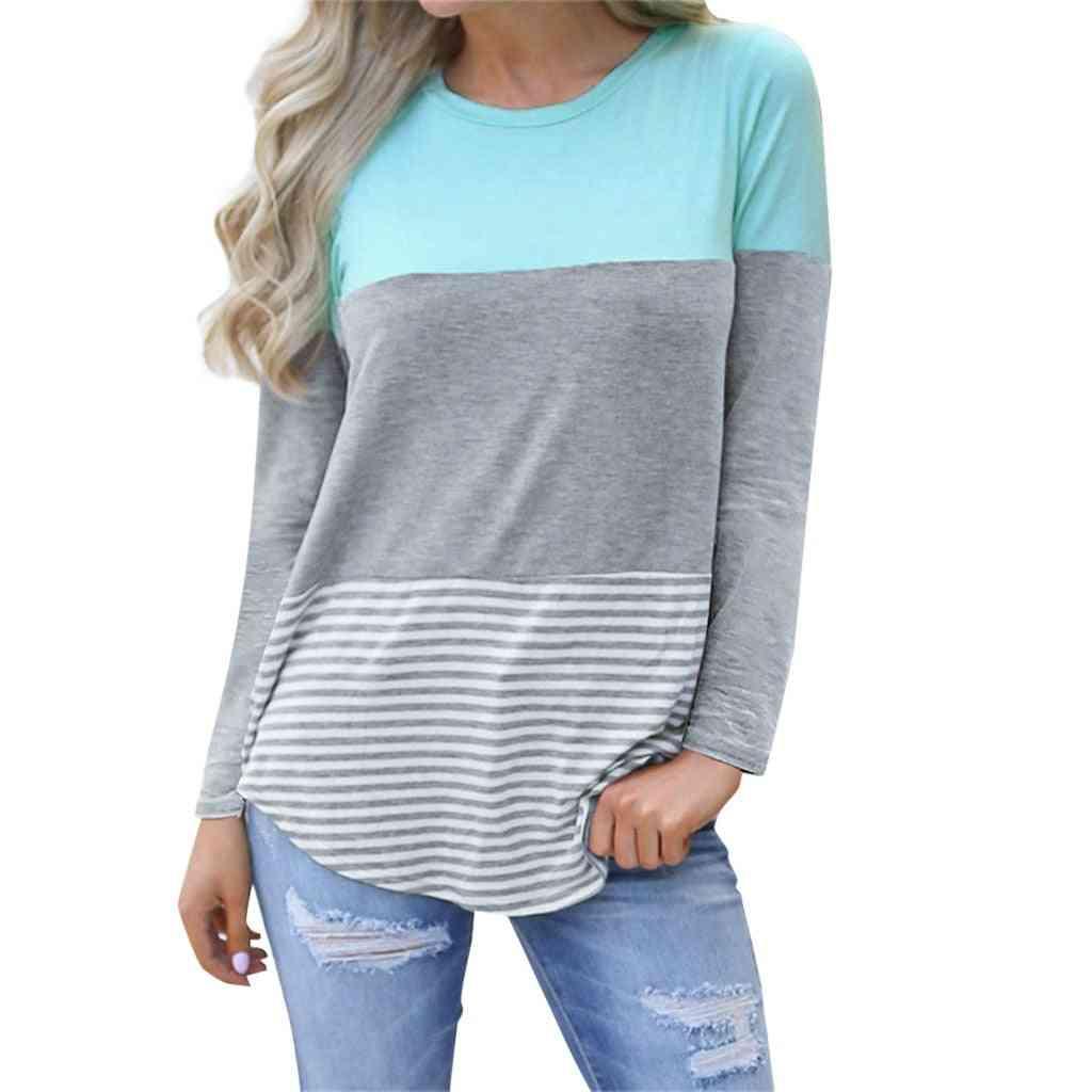 Maternity Clothes, Long Sleeve Striped O Neck Nursing Maternity Tops/ Pregnancy Shirt
