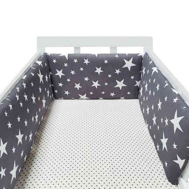 One-piece Double-sided Baby Bed Bumper With L/u Shape