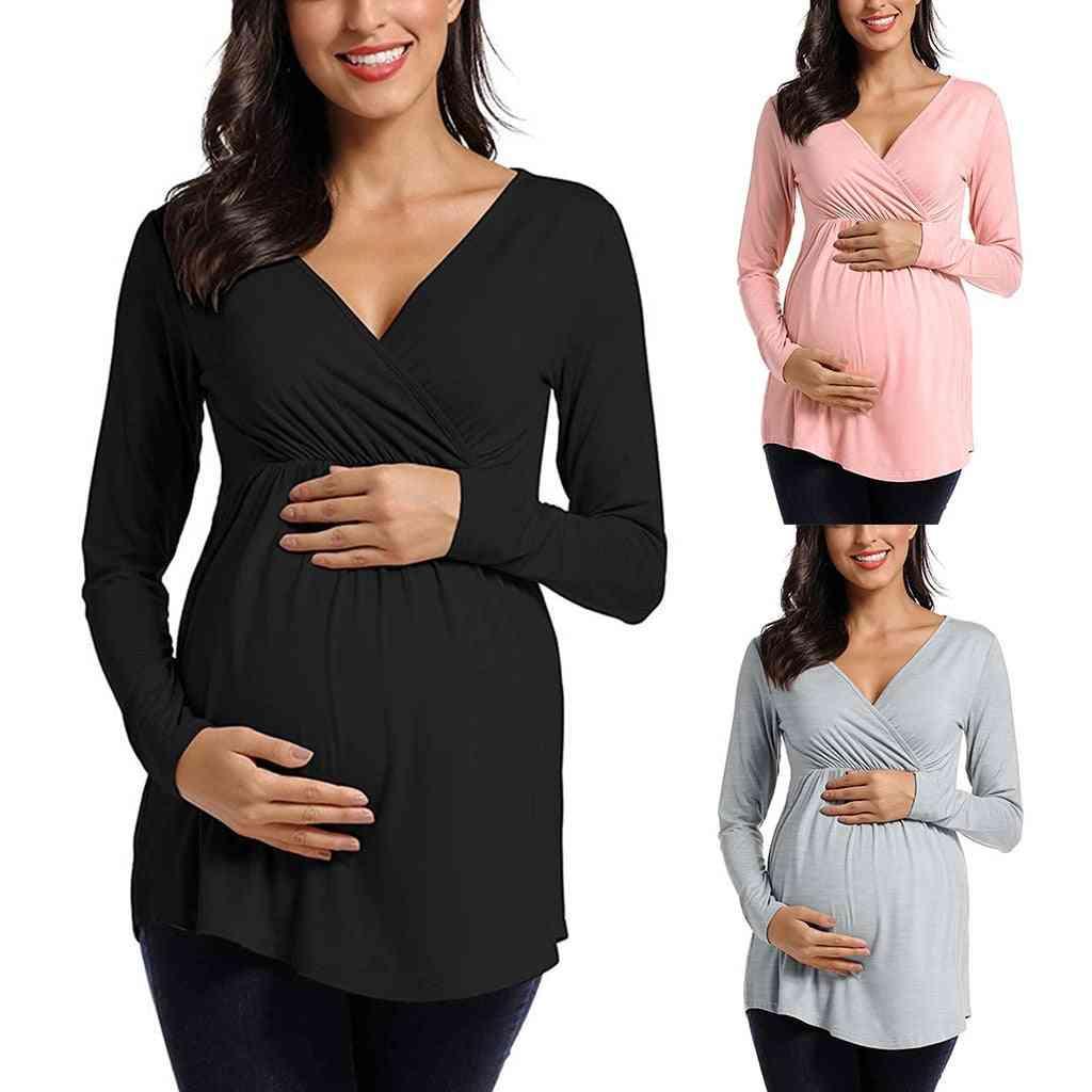 Maternity Long Sleeve, Nursing Tops Shirt