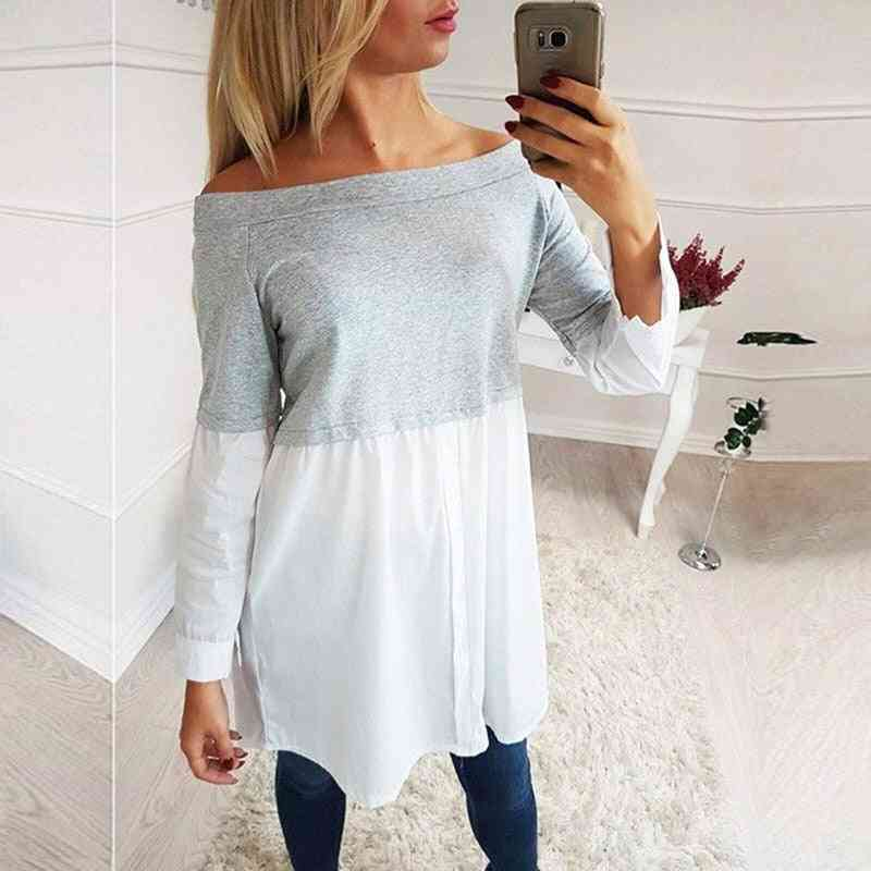 Patchwork Big Size Clothes Tops For Pregnant -women Print Fashion Shirts