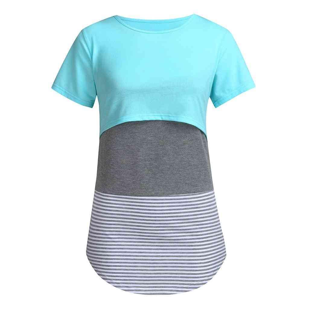 Blouses Feeding Cotton Maternity Shirt, Pregnancy Tops
