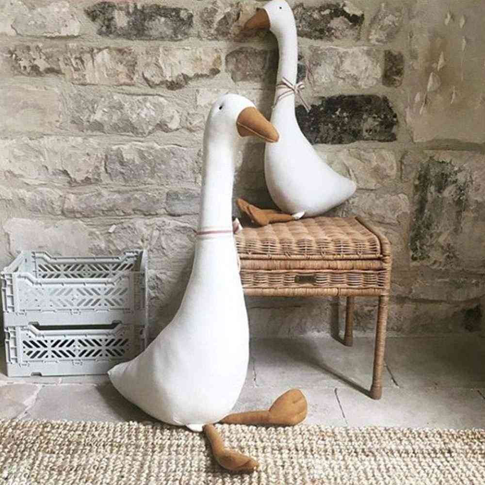 Lovely Goose Shaped Stuffed Pillow